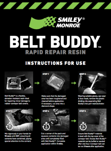 Belt Buddy Instructions for Use - Smiley Monroe